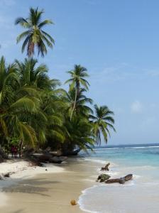 Strand auf den karibischen San Blas Inseln