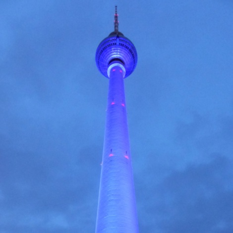 Fernsehturm am Alexanderplatz-Festival of Lights mit Kindern